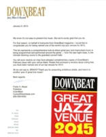 Downbeat Magazine, Best Clubs 2015